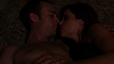 Shannon Lark and Aaron Weisinger in GOLIAD UPRISING