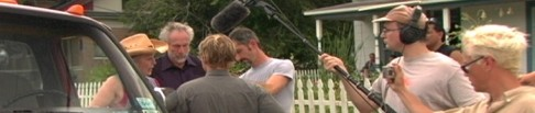 The crew filming ANGORA RANCH