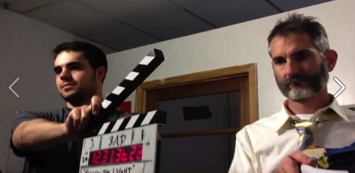 Playing God in a student film.