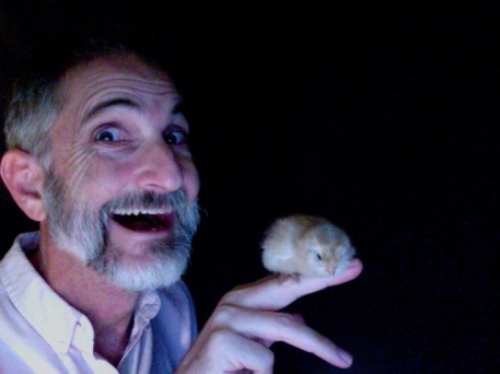 Paul with chick